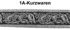 10m Mittelalter Borte Webband 33mm breit Farbe: Schwarz-Weiss