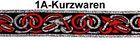 10m Mittelalter Borte Webband 22mm breit Farbe: Rot-Silber