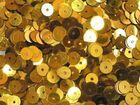 100 Gramm Pailletten 6mm uni plan AA365-1 Farbe: Gold