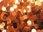 100 Gramm Pailletten 6mm uni plan AA365-3 Farbe: Kupfer