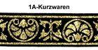 10m Mittelalter Borte Webband 33mm Farbe: Schwarz-Lurexgold