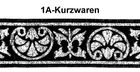 10m Mittelalter Borte Webband 33mm  Farbe: Schwarz-Lurexsilber