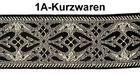 10m Mittelalter Borte Webband 35mm breit Farbe: Schwarz-Lurex-Silber