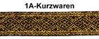 10m Mittelalter Borte Webband 20mm Farbe: Lurex-Gold-Schwarz