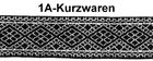 10m Mittelalter Borte Webband 20mm Farbe: Lurex-Silber-Schwarz