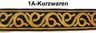 10m Mittelalter Borte Webband 20mm Farbe: Gold-Schwarz