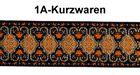 10m Mittelalter Borte Webband 20mm breit Farbe: Lurex-Silber-Orange-Schwarz