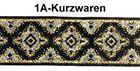 10m Mittelalter Borte Webband 20mm breit Farbe: Lurex-Silber-Gold-Schwarz