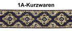 10m Mittelalter Borte Webband 20mm breit Farbe: Lurex-Silber-Gold-Blau