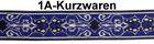 10m Mittelalter Borte Webband 20mm Farbe: Silber-Blau-Beige