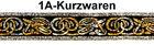 10m Mittelalter Borte Webband 22mm Farbe: Gold-Silber
