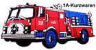 Applikation Sticker Patch Feuerwehr 11,5 x 6cm Farbe: Rot