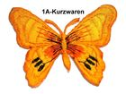 1 Applikation Patch Schmetterling Farbe: Orange