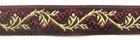 10m Jacquard Borte Webband 16mm breit Farbe: Bordeaux-Gold