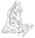 Applikation Bügelmotiv Strass Pferd 18,5 x 20 cm