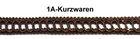13,50m Posamentenborte 12mm breit Farbe: Braun MK0046-8