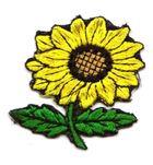 Sonnenblume Trachten Wiesn Applikation Patch 5 x 5cm