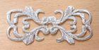 12 Stück Applikationen Farbe: Silber 7,3 x 3,2cm