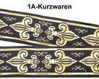 10m Französische Lilie Borte 25mm breit Dunkelblau-Gold