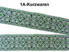 10m Borte Webband 20mm breit Farbe: Grün-Weiss-Schwarz