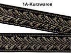 10m Brokat Borte Webband Elbenblatt 20mm breit Farbe: Schwarz-Gold