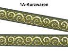 10m Mittelalter Borte Webband 16mm breit Farbe: Moosgrün-Gold