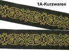10m Mittelalter Borte Webband 20mm breit Farbe: Schwarz-Gold