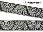 10m Mittelalter Borte Webband 20mm Farbe: Schwarz-silber