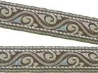 10m Mittelalter Borte Webband 18mm breit Farbe: Braun-Beige