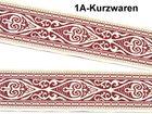 10m Landhaus Mittelalter Trachten Borte Webband 20mm breit Farbe: Bordeaux-Weiss