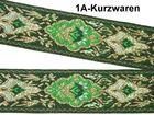 10m Mittelalter Borte Webband 20mm breit Farbe Farbe: Grün-Gold