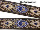 10m Mittelalter Borte Webband 35mm Farbe: Blau-Gold