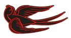 Applikation Tribal Schwalbe Farbe: Schwarz-Rot 11 x 5cm