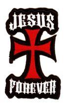 Applikation Tribal Jesus-Kreuz 7 x 12,5 cm AF300-29