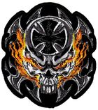 Applikation Biker Tribal Totenkopf 16 x 17cm