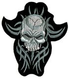 Applikation Patch Sticker Totenkopf 14 x 16 cm AA510-5
