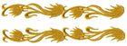 1 Paar Applikationen Streifen Farbe: Gold 20 x 2,5cm AA511-2
