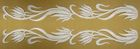 1 Paar Applikationen Streifen Farbe: Weiss 20 x 2,5cm