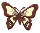 1 Applikation Schmetterling 7 x 5,5cm Farbe: Dunkelbraun