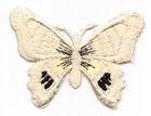 1 Applikation Schmetterling 7 x 5,5cm Farbe: Beige-Schwarz