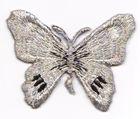 1 Applikation Schmetterling 7 x 5,5cm Farbe: Silber