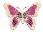 1 Applikation Schmetterling 7 x 5,5cm Farbe: Beige-Pink