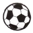 1 Applikation Fußball Durchmesser 4,9cm Farbe: Schwarz-Weiss