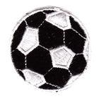 1 Applikation Fußball Durchmesser 4,9cm Farbe: Weiss-Schwarz