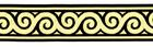 10m Jacquard Borte Webband Stoff 22mm breit Farbe: Schwarz-Gold