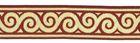 10m Jacquard Borte Webband Stoff 22mm breit Farbe: Bordeaux-Gold