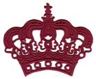 Applikation Patch Tribal Krone 8x6cm Farbe: Bordeaux