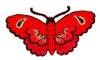 Applikation Patch Sticker Schmetterlinge Farbe: Orange 8,5x5cm