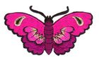 Applikation Patch Sticker Schmetterlinge Farbe: Pink 8,5x5cm