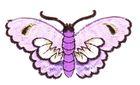 Applikation Patch Sticker Schmetterlinge Farbe: Flieder 8,5x5cm